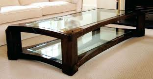 rectangle coffee table with glass top rectangular glass top coffee table with dark wooden legs also
