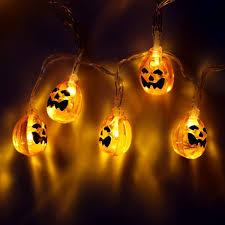 Alderbrook Lights Goeous Halloween Pumpkin Lantern Set 10 Foot Pumpkin Light
