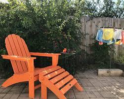 recycled plastic adirondack chairs. Vineyard Adirondack Chair \u0026 Ottoman In Tangerine Recycled Plastic Chairs C