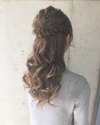 ボブからロングまでハーフアップで女っぽヘアに Hair