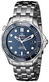swiss watches shop amazon uk omega men s steel bracelet case automatic blue dial analog watch
