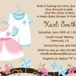 Twin Baby Shower Invitations  BlueklipComTwin Boy And Girl Baby Shower Ideas
