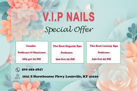 Our specialties in the salon are pedicures, manicures, kids' services, and artificial nails. Vip Nails Spa Nail Salon 40220 Near Me Louisville Ky Pedicure