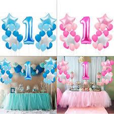 25pcs foil latex balloons set 1st