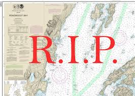 Noaa Navigation Charts Noaa Will Sunset Traditional Nautical Charts Sad But