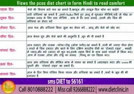 Pcos Diet Chart In Hindi Pcos Diet Chart Diet Chart Pcos