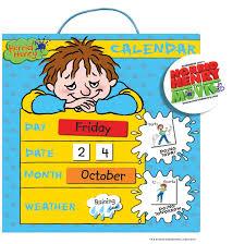 Doowell Activity Charts Doowell Activity Charts Horrid Henry Magnetic Calendar