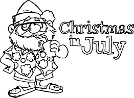 Small Picture 4th Of July Christmas In July Coloring Page Wecoloringpage