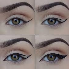 how how to put on liquid eyeliner eyebrow makeup tips