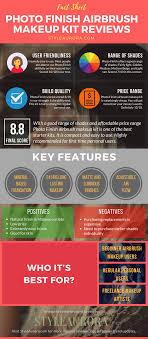 photo finish airbrush makeup kit infographics