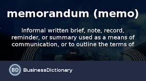 What Is Memorandum (Memo)? Definition And Meaning ...