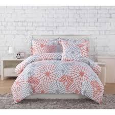 Clarisse Coral/Grey/White 7-Piece Full/Queen Comforter Set ... & Project Generation Stella Coral/Grey 4-Piece Twin XL Comforter Set Adamdwight.com