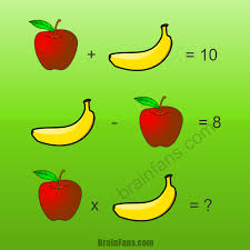 brain teaser number and math puzzle apple and banana solve this math puzzle