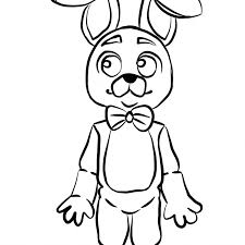 Fnaf Coloring Pages Bonnie With Bonnie Fnaf Coloring Pages Five