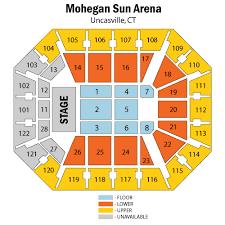 Seating Chart Mohegan Sun Arena Uncasville Ct Www