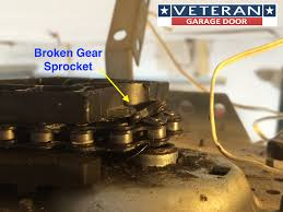 wear signs garage door opener gear broken gear sprocket liftmaster