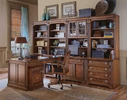modular home office desk. Hooker Furniture Brookhaven Modular Office Collection - Item Number: 10417+11+12+ Home Desk E