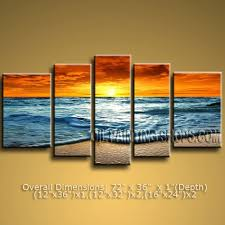 wall art canvas painting orange blue sunset beach picture 5 panel canvas huge splendor seascape painting on sunset wall art canvas with wall art best ideas wall art canvas painting home wall decor