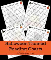 101 200 Chart Printable Free Halloween Themed Reading Charts 3 Dinosaurs