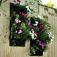 outdoor wall planters nz mounted uk hanging pocket vertical pot herbs garden bag for architectures good