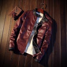 choynsunday brand new leather jacket pu black red