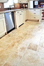 Luxury Kitchen Flooring Ceramic Tile Floor In A Modern Luxury Kitchen Stock Photo Picture