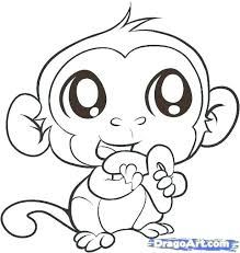 Sock Monkey Coloring Pages Printable Monkey Coloring Pages Baby Free