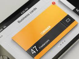 Business Card Organizer Iphone App By Erik Deiner Dribbble Dribbble