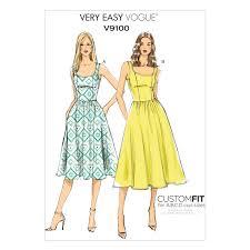 Vogue Patterns Dresses Impressive Vogue Patterns V48 Very Easy Custom Fit Misses 48 Create