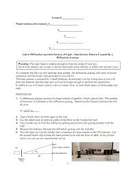 Wavelength Of Laser Light Formula Lab 4 Worksheet 4 1 Lab Assignment From The Online Course
