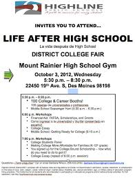 learn about life after high school at mt rainier high on  learn about life after high school at mt rainier high on wednesday oct 3 the b town burien blog