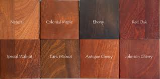 Mahogany Stain Color Chart Door Finishing Prefinished Wood Doors