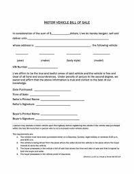 Free Motor Vehicle Bill Of Sale Dmv Receipt Of Sale Academic Free Vehicle Bill Sale Form Luxury