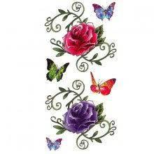 Karnevalové Nalepovací Tetování Růže A Motýl