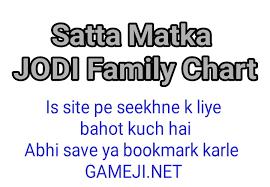 Matka Family Jodi Chart Chart Of Family Jodi In Satta
