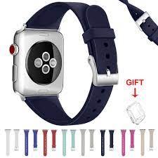 Dây Đeo Silicone Cho Đồng Hồ Thông Minh Apple Watch Series 6 / Se / 5 / 4 /  3 / 2 / 1 Kích Thước 38mm 40mm 42mm 44mm - Phụ Kiện Thiết Bị Đeo Thông Minh
