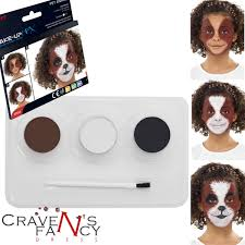 dog face painting kit make up fx animal puppy kids fancy dress party cute paint