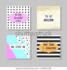 Greeting Card Templates Printable Hand Drawn Stock Vector Royalty