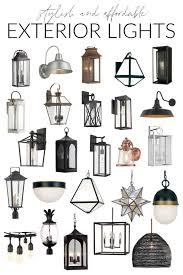 affordable exterior light fixtures