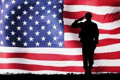 solider silhouette with american flag stock image image of honor patriotism 103310141