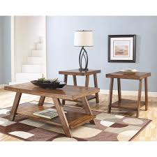 Living Room Tables Set Signature Design By Ashley Bradley Brown Occasional Table Set Of
