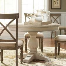 round dining table set throughout aberdeen wood only in weathered worn white plans 11