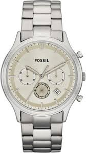 fossil watch men s chronograph nate antiqued stainless steel fossil men s fs4669 ansel stainless steel watch < 78 00 >