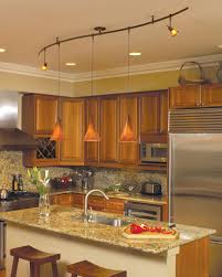 kitchens with track lighting. Interesting With Amusing Track Lighting Design Ideas Fireplace Charming Of Astonishing  The Brown Wooden Cabinets Added In Kitchens With H