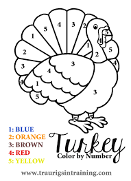 Small Picture Color By Number Thanksgiving Coloring Pages GetColoringPagescom