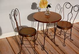 Ice Cream Parlor Chairs And Table