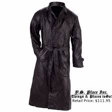 item 3 mens black genuine leather full length lined trench coat duster long over jacket mens black genuine leather full length lined trench coat duster