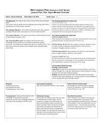 Character Setting Events Chart Lesson Plan Title Open