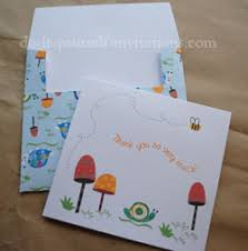 Thank you card printables - could use some of the snails, lanterns, and  flowers