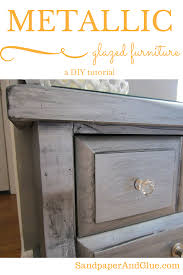 diy metallic furniture. diy metallic spraypaint and glazed furniture n